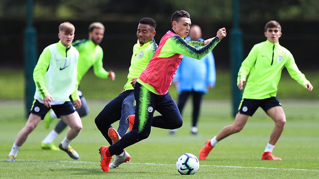 PHIL FODEN: In full flow