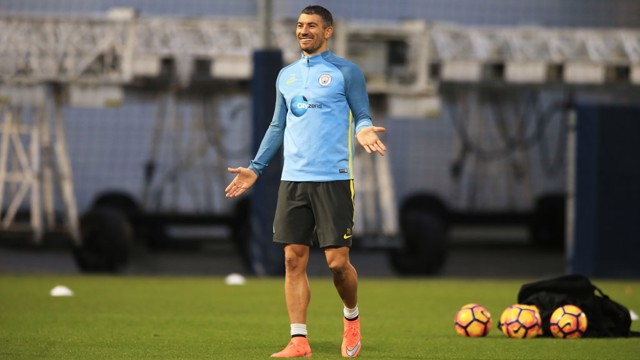 WHAT?!: Aleks Kolarov jokes around