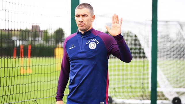 WAVE: Aleks Kolarov on his way to training