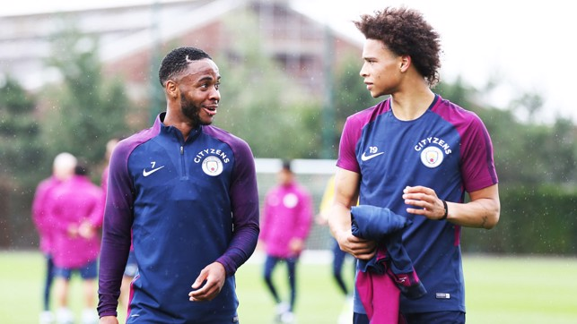 WING MEN: Raheem Sterling and Leroy Sane