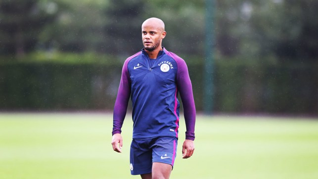 EL CAPITAN: Vincent Kompany during training