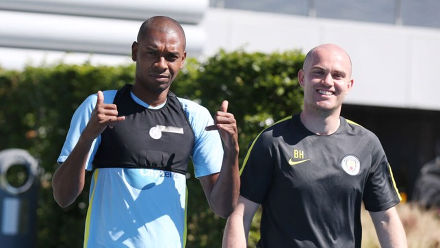 BRAZILIAN CONDITIONS: Playing football in tropical heat is no problem for Fernandinho.