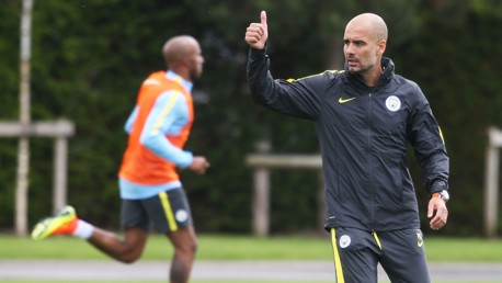 THUMBS UP: Who else is loving seeing Pep in City kit?