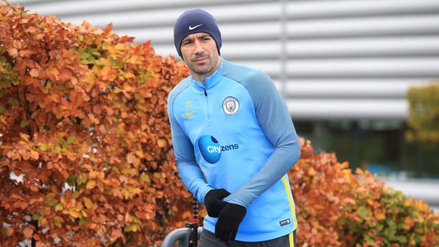JUST GLOVELY: Aleks Kolarov steps out