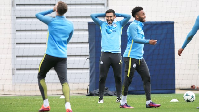 TICKLED: Something has ticked Gundogan and Stones