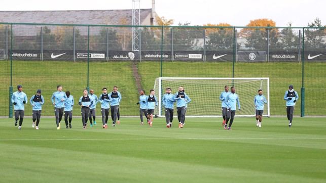 PITCH PERFECT: The players warm up
