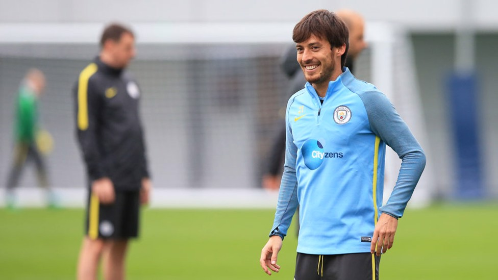 SILVA SMILE: David pulls off a winning grin for the camera