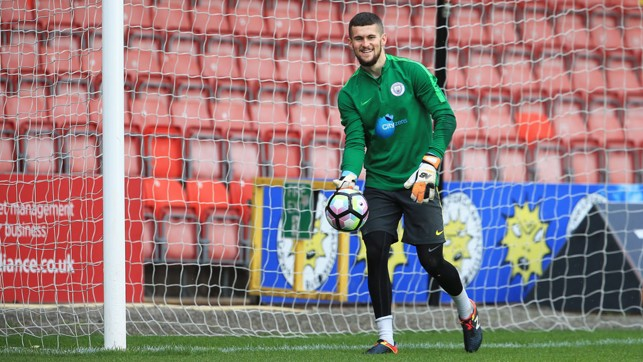 SHOT-STOPPER: Billy O'Brien enjoys the session