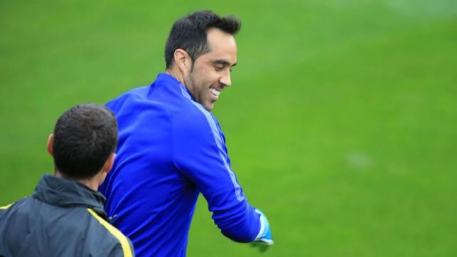 BRAVO! Goalkeeper Claudio in good spirits