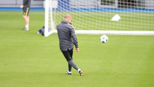 STILL GOT IT: Boss Pep Guardiola shows how it's done