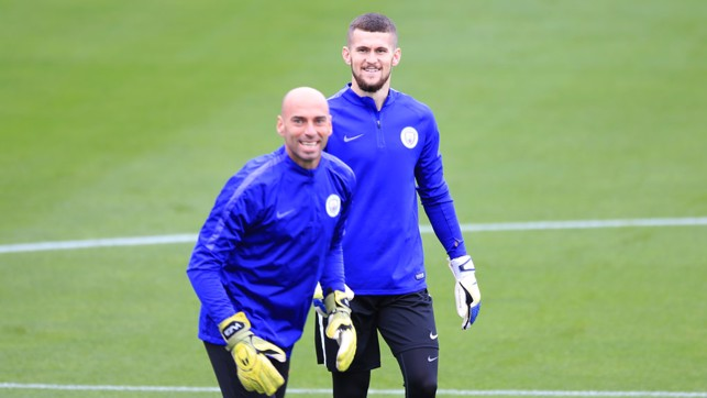 GOALKEEPERS UNION: Willy Caballero and Billy O'Brien