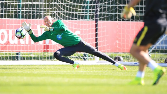 DIVING SAVE: Willy Caballero in focus