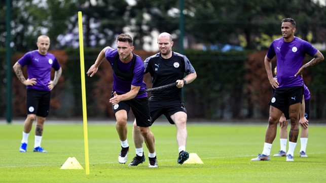 AYMERIC LAPORTE: Sprint sessions are hard work