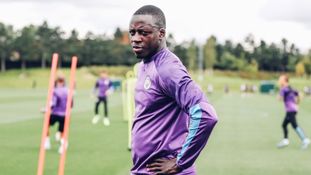 FOCUS TIME: Benjamin Mendy is a study in concentration