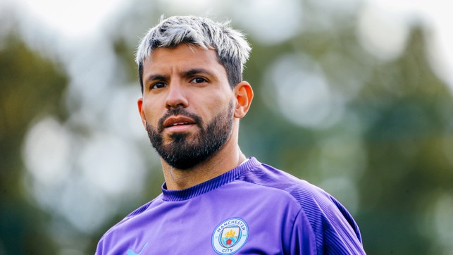 UP CLOSE: Sergio Aguero poses for the camera