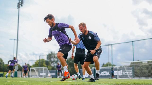 MAGIC TRICKS: David Silva puts in the hard yards