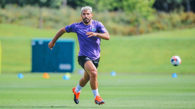 SERGE OF PACE: Our record goalscorer hits top speed
