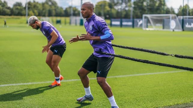 HE'S BACK: Fernandinho gets back into the swing of things