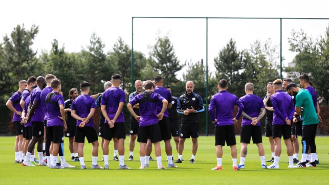 BACK TO WORK: A rousing team talk from the boss