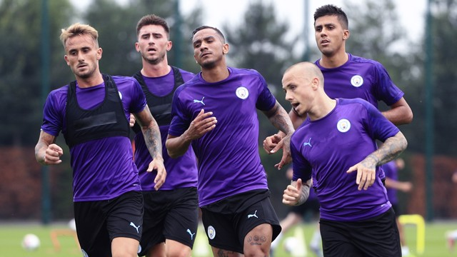 LEAN TO IT: New signing Angelino, Aleix Garcia, Aymeric Laporte, Danilo and Rodri turn up the heat