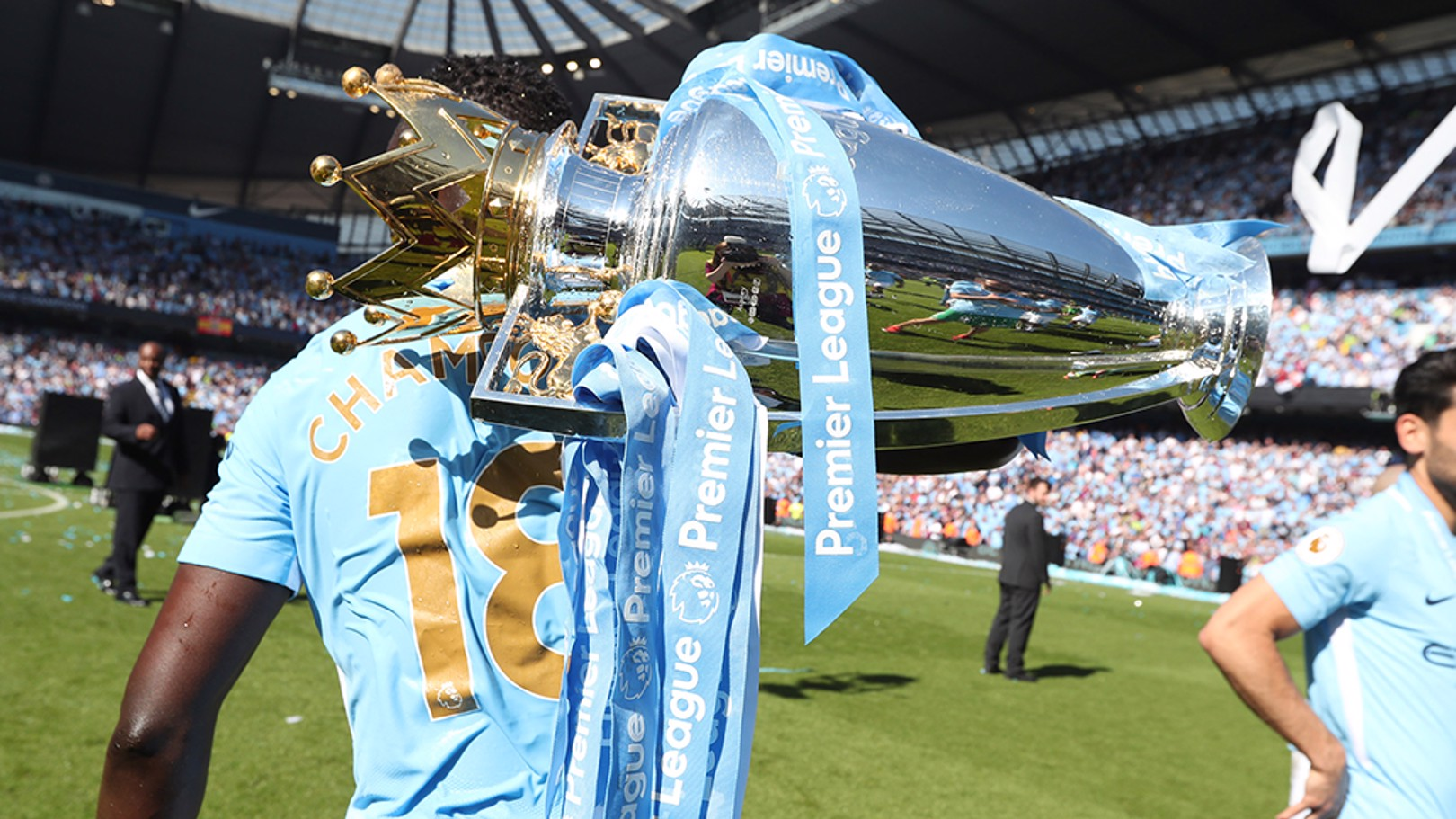 SILVERWARE: Get your hands on the Premier League trophy this week at the City