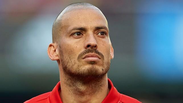 FOCUSED: David Silva lines up for Spain against Switzerland.