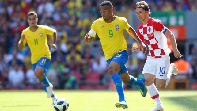 LEADER: Gabriel Jesus captains Brazil against Croatia.