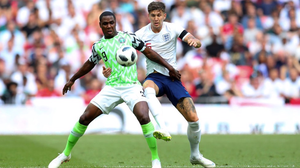 SHARP: John Stones in action for England.