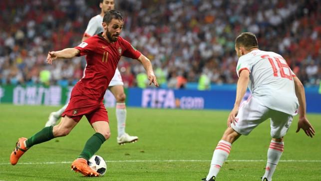 BERNARDO ON THE BALL: Bernardo Silva in action during Portugal's defeat against Uruguay