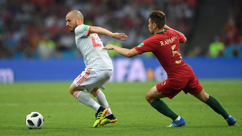 David Silva in action for Spain