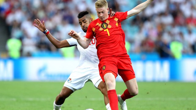 OFF AND RUNNING: Kevin De Bruyne laid on an assist in Belgium's 3-0 win over Panama