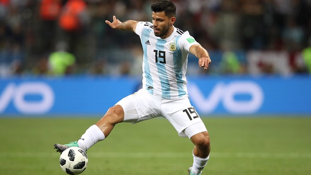 CONTROL: Aguero takes charge