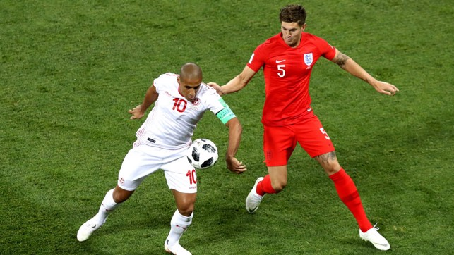 ROCK SOLID: John Stones was impressive against Tunisia