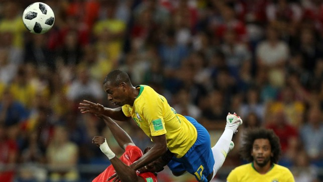 FLYING FERNA: City's Brazilian midfielder Fernandinho played the last half-hour in the 1-1 draw with Switzerland
