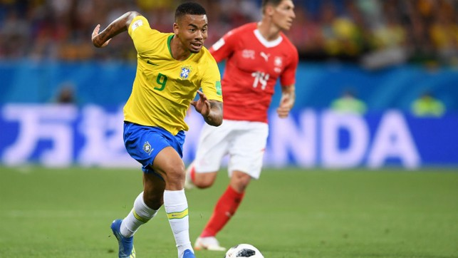 GO FORWARD: Gabriel Jesus on the attack