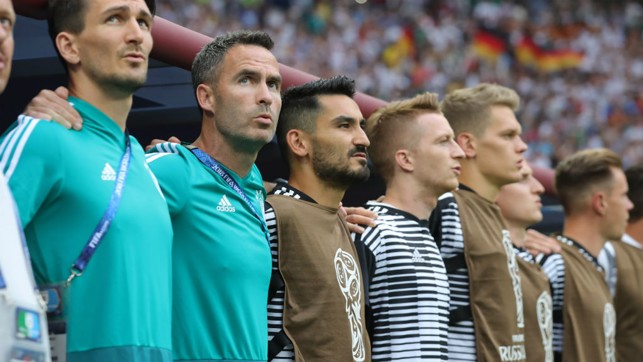 EARLY SHOCK: Ilkay Gundogan was an unused substitute as Germany lost 1-0 to Mexico