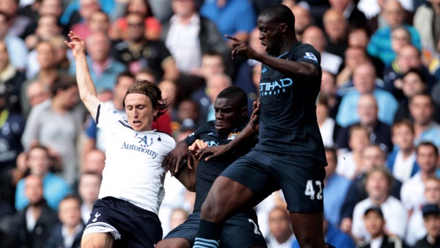 ON DEBUT: Toure in his first Premier League game, against Spurs