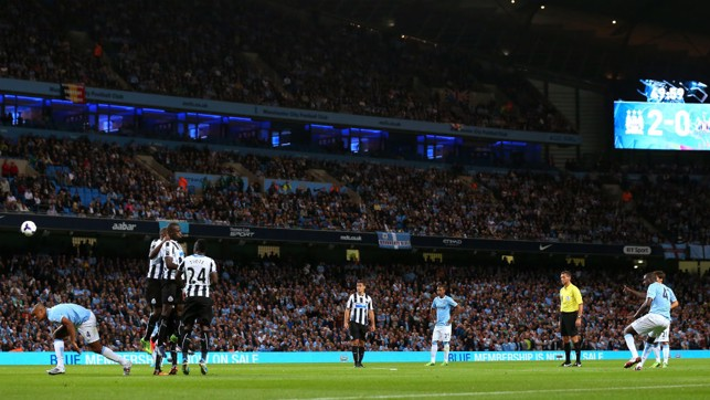 FREE-KICK MASTER: Toure has been a dead-ball specialist for City