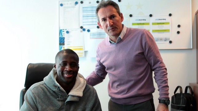 EXTENDED STAY: Toure penned a new deal with City in April 2013
