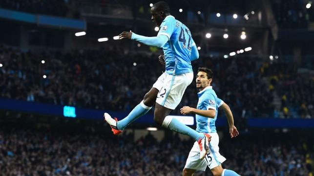 FEEL THE POWER: Toure celebrates a goal