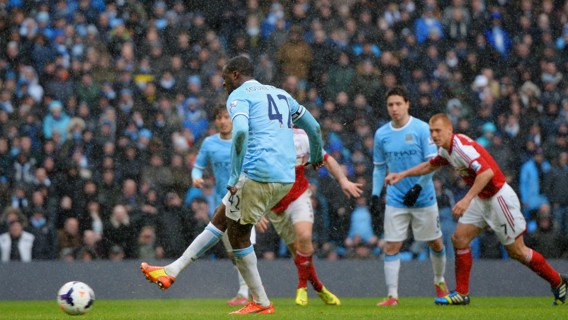 SPOT ON: Yaya Toure has a 100 per cent penalty record