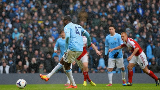 CLINICAL: Toure has a 100 per cent penalty record with City