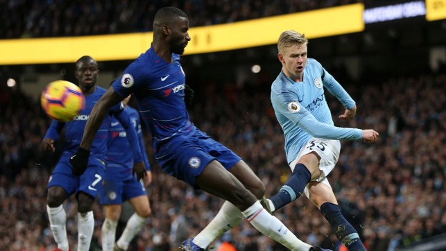 STANDOUT: The 22-year-old turned in a superb display as City beat Chelsea 6-0 in February 2019.