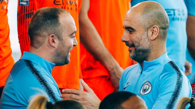 LEADING FIGURES: Managers Nick Cushing and Pep Guardiola