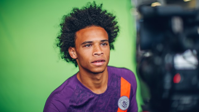 A STUDY IN FOCUS: Leroy Sane sports City's new third strip