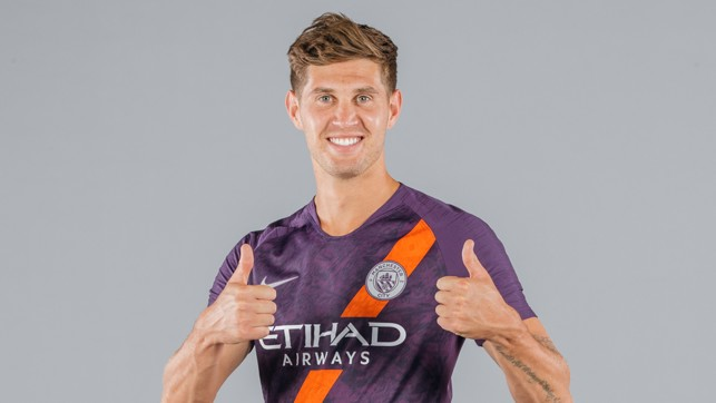 ALL SMILES: John Stones is clearly a fan of our new third kit!!
