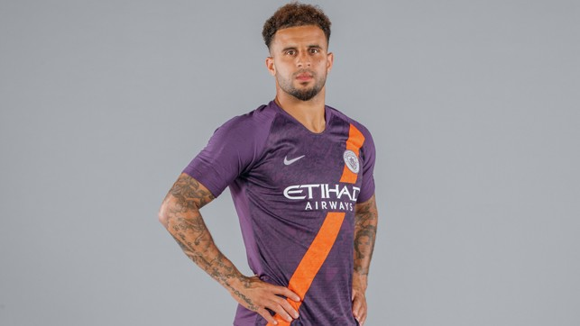 MODEL CITYZEN: Kyle Walker tries out our new third strip for size