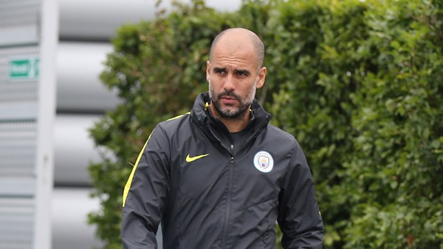 GUARDIOLA: Pep spent three seasons at the helm at the Allianz Arena before taking over at City at the start of the month.