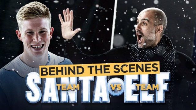 Behind the Scenes: Pep Guardiola, Kevin De Bruyne and Vincent Kompany star in Manchester City's Christmas video.