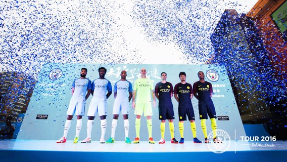 NEW COLOURS: Seven City stars get a ticker tape welcome